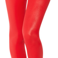 Wet Look Red Leggings - LIMITED | Black Milk Clothing