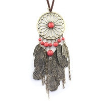 vintage gem dream catcher jewelry,sweater necklace,short/long necklace,daily Accessories,personalized gift idea