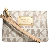 MICHAEL Michael Kors Handbag, Jet Set Small Signature Wristlet