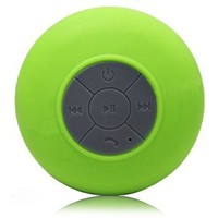 Splash Shower Tunes (Green) - Waterproof Bluetooth Shower Speakers and Remote