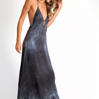 LoveShackFancy Slip dress in washed out black
