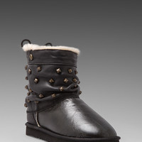 Koolaburra Alesta Studs Boot in Black Distressed/Distressed Studs
