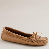 Women's shoes - oxfords & mocs - Minnetonka?- deerskin moccasins - J.Crew