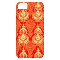 Orange paisley pattern iPhone 5C cases