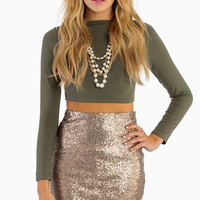 Be Seen Sequin Pencil Skirt - TOBI