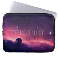 Beautiful Purple Pink Space Galaxy Nebula Photo Laptop Computer Sleeves