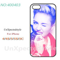 Phone Cases, iPhone 5/5S Case, iPhone 5C Case, iPhone 4/4S Case, Miley cyrus, glasses, Phone covers, Case for iPhone-400403