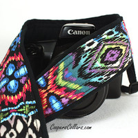 Ikat Oasis Southwestern Camera Strap, dSLR, Digital, Tribal, SLR, 105 c