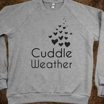 Cuddle Weather-Unisex Heather Grey Sweatshirt