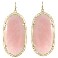 Kendra Scott Danielle Rose Quartz Earrings