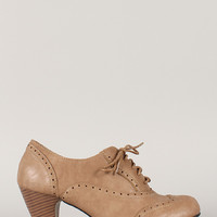 Amany Lace Up Perforated Oxford Bootie