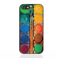 Water color paint set,IPhone 5c case,IPhone 5s case,IPhone 5 case,IPhone 4 Case,IPhone 4s case,soft Silicon iPhone case,Christmas present