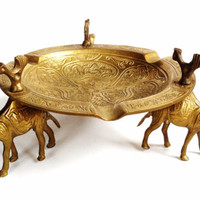 Brass Ashtray , Camel Ashtray, India Brass , Unique Gift Idea , Solid Brass , Decorative Ash Tray