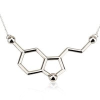 Serotonin Necklace, Serotonin Molecule Necklace, Chemistry Necklace