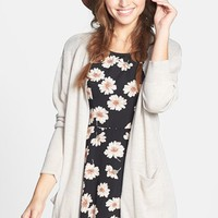 Cotton Emporium Open Front Long Cardigan (Juniors) | Nordstrom