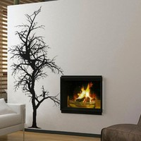 uBer Decals Vinyl Wall Decal Sticker Bare Tree 4 408 31x15 inches - Black
