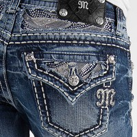 Miss Me Rhinestone Boot Stretch Jean