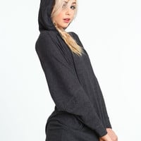 HOODED SWEATER DRESS