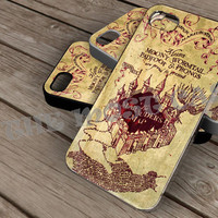 harry potter marauder maps on iPhone 4 / iPhone 4S / iPhone 5 / Samsung S2 / Samsung S3 / Samsung S4 Case Cover THEMOSTCASE