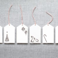 Plane Paper: Gift Tags - 6 pack - Assorted Holiday