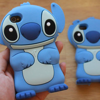 SALE30-70%OFF: Very Cute Stitch from Lilo & Stitch 3D iPhone 4 and iPhone 5 soft protective cases