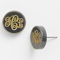 Moon and Lola 'Chelsea' Small Personalized Monogram Stud Earrings (Nordstrom Exclusive) | Nordstrom