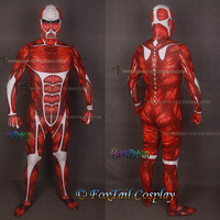 Attack on Titan Colossal Titan Cosplay Full Suit Holloween Costume-Express shipping to US,Uk,Au,Ca (FT035)