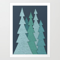 Pines Art Print by Anita Ivancenko