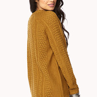 FOREVER 21 Cozy Mixed Knit Sweater