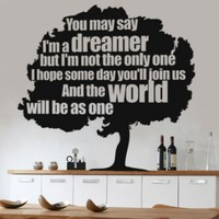 Dreamer Tree Sticker - Moon Wall Stickers