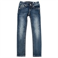 Miss Me Girls 7-16 Embroidered Skinny Jean at Von Maur