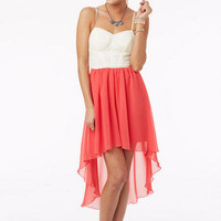 Colorblock High-Low Dress - Multi