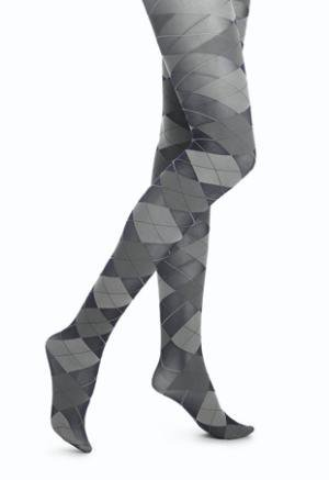 HUE Argyle Control Top Tight