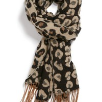 BP. Animal Print Fringe Scarf (Juniors) | Nordstrom