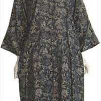 Black  Oriental Rayon Jacket Japan