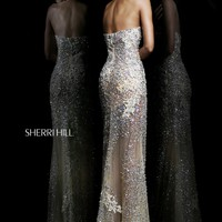 Sherri Hill 1710 Long Beaded Prom Dress
