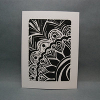 Pattern Design  Linocut Print by kellismprints on Etsy