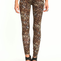 CHEETAH KNIT LEGGINGS