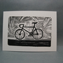 Men's Bicycle  Linocut Print by kellismprints on Etsy