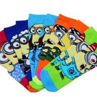 Brilliance Unisex 4 Pairs Despicable Me 2 Minions Casual Socks