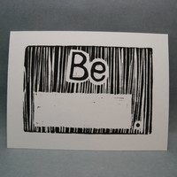 Be fill in the blank  Linocut Print by kellismprints on Etsy