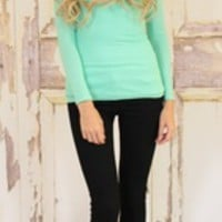 Back to Basics Top Mint Green - Modern Vintage Boutique