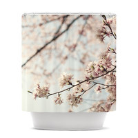 "Catherine McDonald ""Japanese Cherry Blossom"" Shower Curtain 