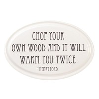 American-Made Henry Ford Quotation Ceramic Wall Plaque - Plow & Hearth