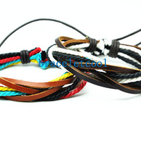 set of 2 bracelet, couple bracelet women Leather Bracelet Men leather bracelet, friendship bracelet,Christmas Gift C042