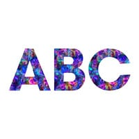 Lisa Argyropoulos Colour Aquatica Berry Blue Decorative Letters