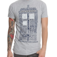 Doctor Who TARDIS Quotes Slim-Fit T-Shirt