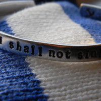 I shall not sink anchor hand stamped bracelet