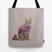 cat Tote Bag by rysunki-malunki