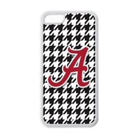 iPhone 5C Case - Popular Houndstooth Background NCAA Alabama Crimson Tide Apple iPhone 5C (Cheap IPhone5) Waterproof Rubber (TPU) Back Cases Covers